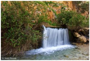 Desert Waterfall by ynissim