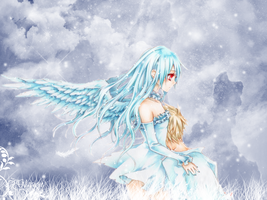 Angel in the snow wallpaper by Glacion