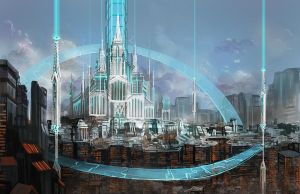 Angel city on ruin by Athena-Erocith