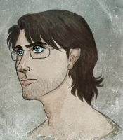 Realistic drawing of Otacon by kbakonyi