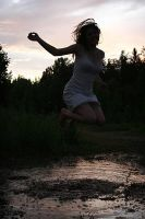 Jumping In A Puddle by Knukkohed