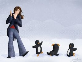 Dancing Penguins by jackieocean