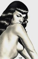 Bettie Page Portrait by Dr-Horrible
