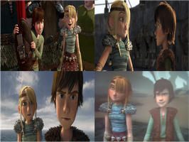 Hiccup and astrid by rocky-road123