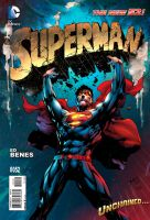Superman#28 Pencil by Ed Benes Color by Dinei R by Ed-Benes-Studio