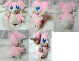 Audino plushie by Rens-twin