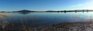 Crystal Reservoir Panarama by SarahReneeCreations