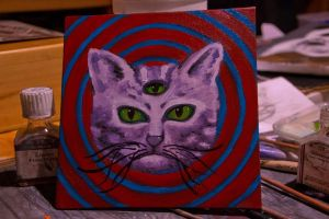 psychedelic third eye kittie by concretedandelions