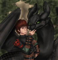 A Boy and His Dragon by sjsaberfan