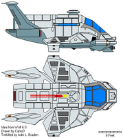 Trekified 'Gun' Raptor - UFP by braden1986