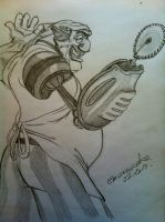 John Silver (cooking ?) with his buzzsaw by emisnowake
