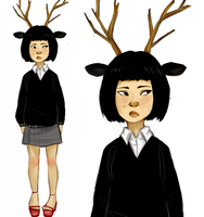 Deer Girl by Nani-Mi