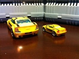 Detailed CV TFP Bumblebee altmode with FE BB: rear by wulongti