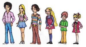 Brady Bunch Kids by mystman85