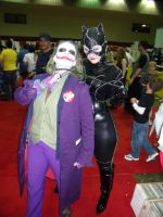 MegaCon: Catwoman and Joker by Devain