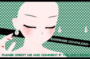 Kawaii sheeps earrings [MMD][DL] by Deiroko