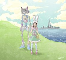 Robot and Girl by flyingcatbread