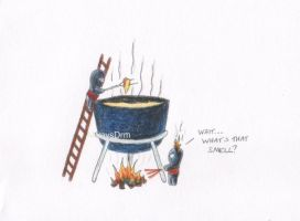Cheesy Ninja: Fondue Fire by AlwaysDrm