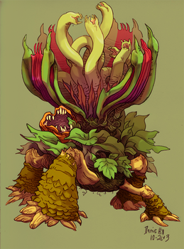 Plant Monster - Final Color by burntmoth19