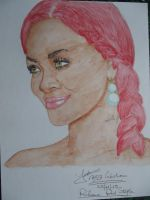 Rihanna red style by fab37