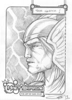 FREE Thor Sketch ! by Carl-Riley-Art