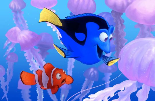 Marlin and Dory by FascinationDisney