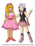 Ash and Dawn Dress- Up by Stardust-Phantom