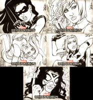 Marvel Beginnings Series III sketch cards 1 by mechangel2002