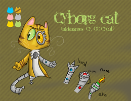 Cyborg cat reference. STRIPES by Moopdrea