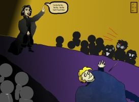 Snape PWNS Lockhart by stormygate