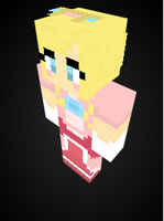 Princess Peach in Minecraft by Endette