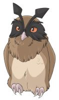 ...pogheys... Hoothoot by Rainbow-Cemetery