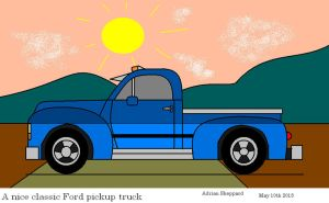 A Nice Classic Ford Pickup Truck by artluvr4life