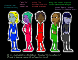 Planetary Warrioress Recruits by LittleGreenGamer