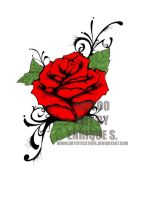Rose Tattoo 1 by theartistenrique