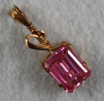 Pink CZ Pendant by skezzcrom