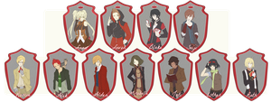 The whole Corleoni gang by morigamii