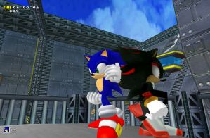 Sonic and Shadow - Sky Deck by NeoMetalSonic360