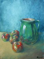 Still life oil paint 2 by Boias