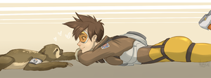 Tracer and Baby Biscuit of Love by VanyCat