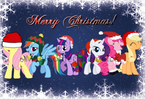 Merry Christmas! Ponys by MeelComeCaramelo