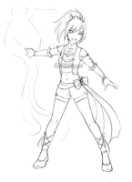 DW OC Sketch: Sunshi by ShootingStar03