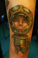 robot boy tatto by JasonJacenko