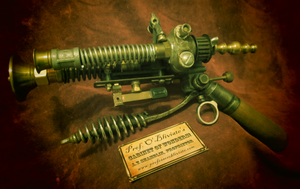 The Airship Pirate's Electrovoltaic Blunderbuss by professor-theodosius
