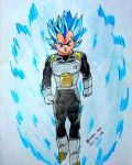 DIBUJO VEGETA SSJ DIOS SSJ AZUL-DRAGON BALL SUPER by SeindonArt