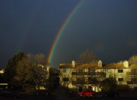 Rainbow over Apartments by darenw