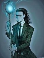 Suit and Tie (Loki) by Scribblerb