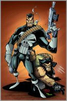 Punisher and wolvi colored by Dany-Morales