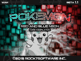Pokemon Red And Blue Neon Pantalla De Titulo by Rock7JD