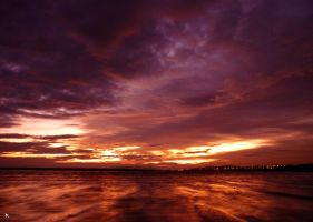 sunset on water by kilted1ecosse